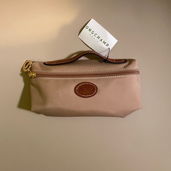 Beige Longchamp Mini Bag: Le Pliage Pochette